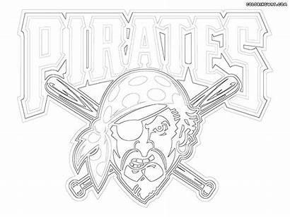 Logos Mlb Colorings Coloring Pages Pittsburghpirates