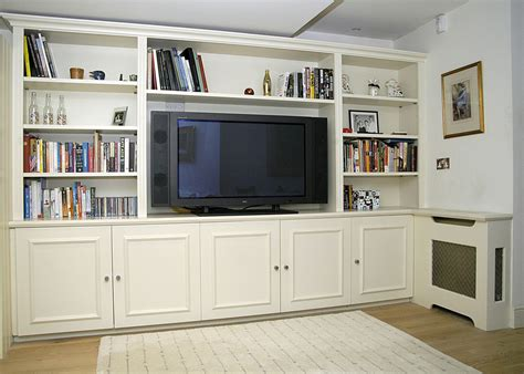 Living Room Wall Shelving Units by Traditional Bespoke Wall Unit Designed To Accommodate