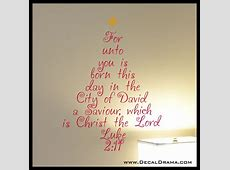 Decal Drama · Christmas, For unto you is born this day in