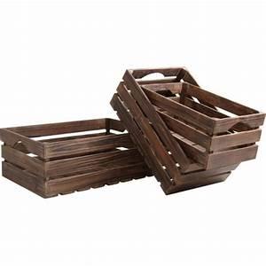 Caisse En Bois à Donner : caisses en bois vieilli boisnature 39 l ~ Louise-bijoux.com Idées de Décoration