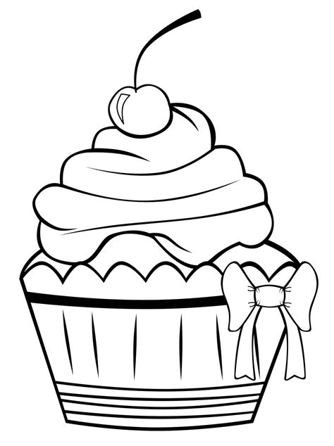 free printable cupcake coloring pages for