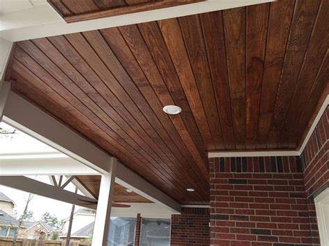Beadboard Planks Tongue And Groove : Tongue And Groove Pine Ceiling Exterior