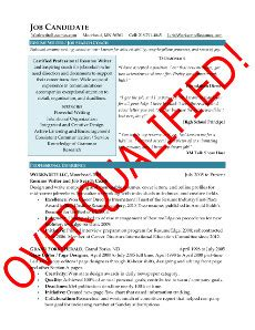 Overqualified Cover Letter Sle by Overqualified Strategies For Career Documents And