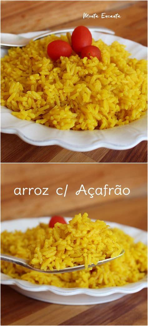 Arroz com Açafrão, amarelinho e repleto de sabor! - Monta ...
