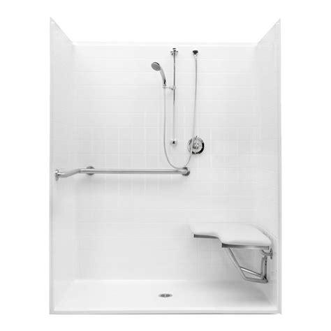 """Aquatic Bath 1623bfstd White 60""""x30""""x7478"""" Ada Shower"""