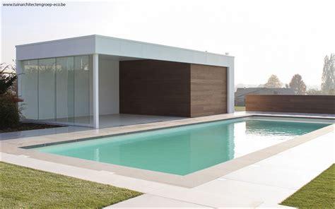 Moderne Poolhäuser by Eco Tuinarchitectengroep Projecten Tuinaanleg Moderne