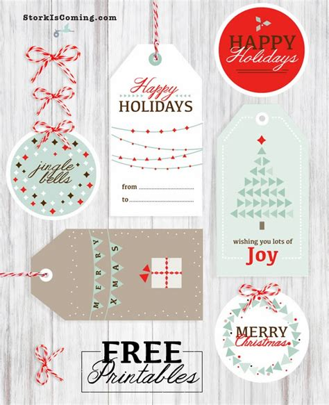 the stork is coming printable christmas gift tags and cards
