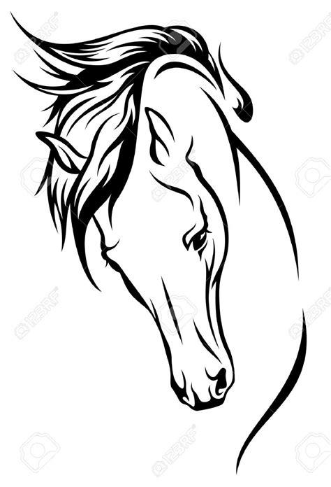 pferdekopf vorlage zum ausdrucken