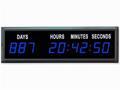 eu led countdown clock days hours minutes seconds blue