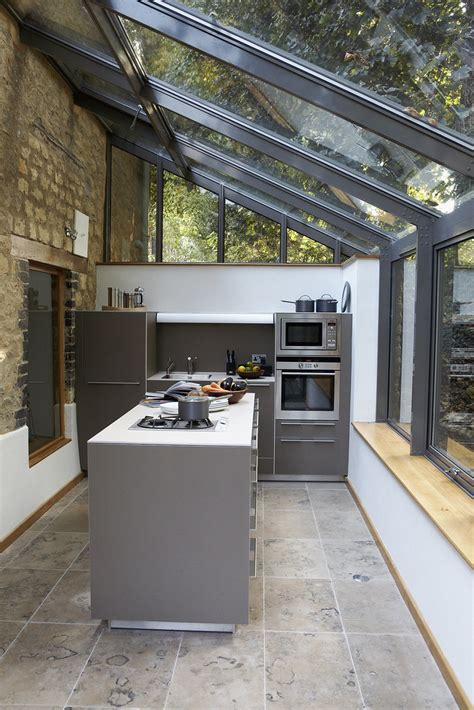 farmhouse kitchen extension  industrialised kitchen