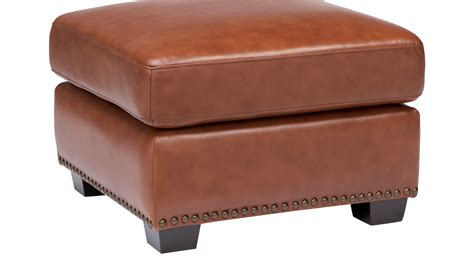 Brown Leather Ottoman by 349 99 Balencia Light Brown Leather Ottoman Traditional