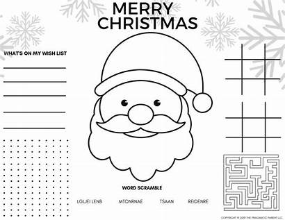 Coloring Christmas Pages Pdf Printable Placemats Adults
