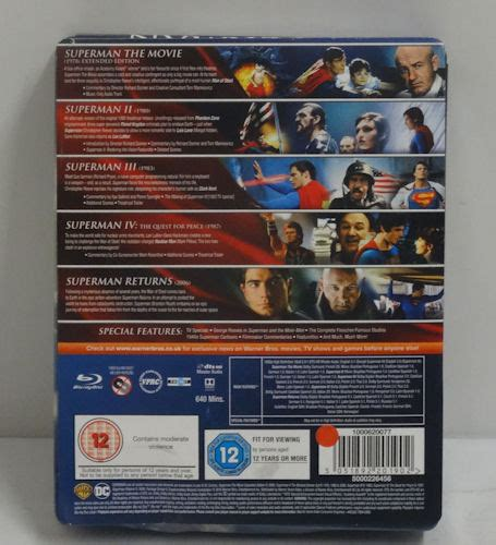 Superman Anthology: 5 Film Collection Steelbook IP5 lot ...