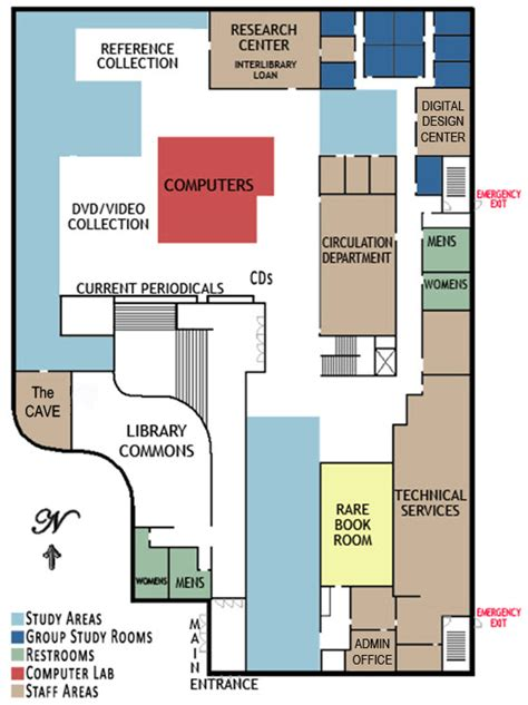 floor plans lafayette college main level reinert alumni memorial library creighton university
