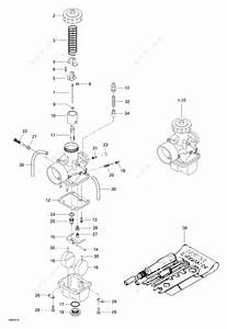 Ski Doo 2004 Skandic - Suv 550f  Carburetor S