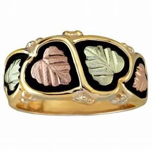 coleman antiqued 10k black hills wedding ring with 12k With black hills wedding rings