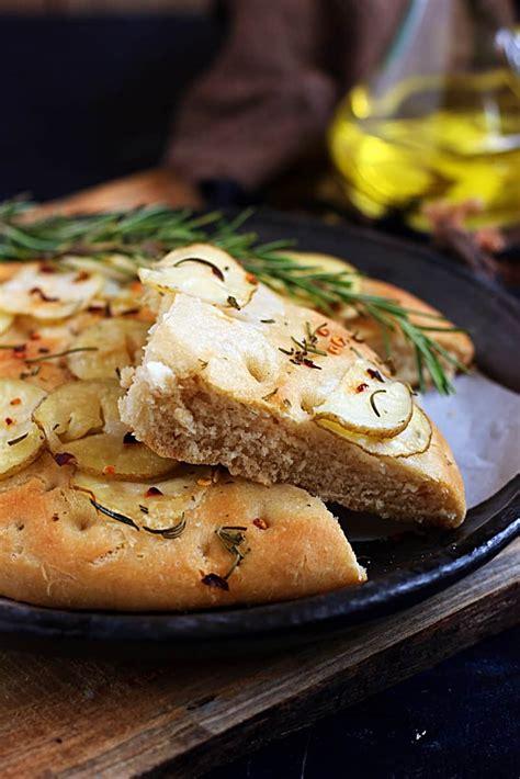 potato rosemary focaccia recipe cook click  devour