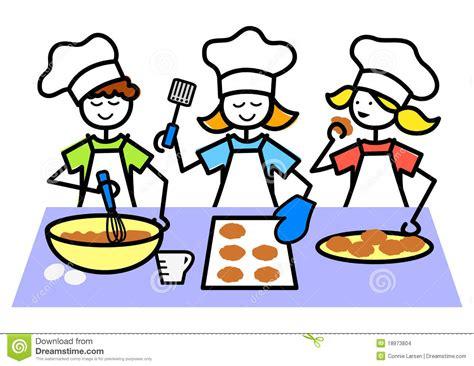 dessin animé de cuisine le dessin animé badine les biscuits de traitement au four