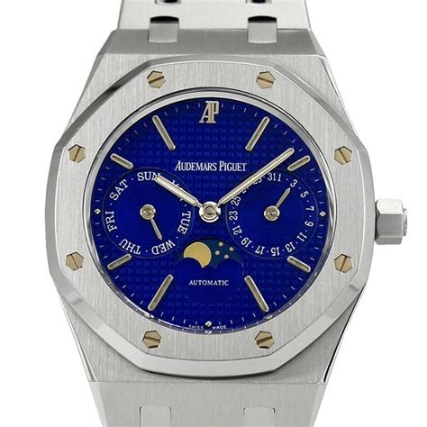 audemars piguet royal oak day date moonphase  stainless steel st price guide