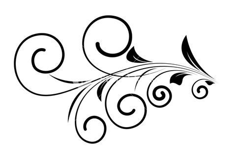 Decorative Swirls - decorative swirl design element vector royalty free stock