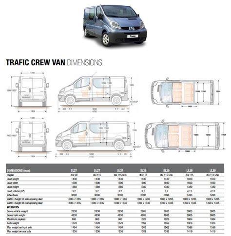 renault trafic dimensions renault trafic van dimensions