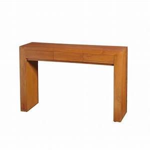 Console En Teck : console moderne 3 tiroirs style colonial en teck massif ~ Teatrodelosmanantiales.com Idées de Décoration