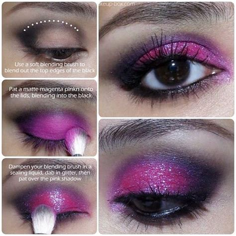 magenta pink glitter eyeshadow tutorial makeup