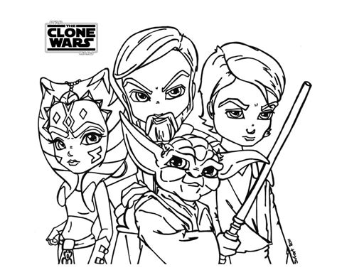 Star Wars Clone Wars Coloring Pages - Eskayalitim