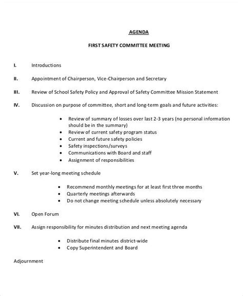 meeting agenda templates  premium templates