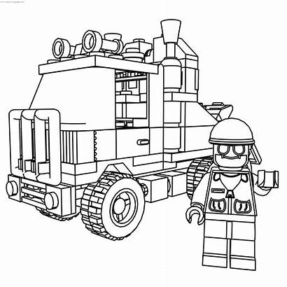 Coloring Lego Truck Rescue System Drive Pages