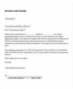 charitable donation cover letter With sample letter of appreciation for generous donation