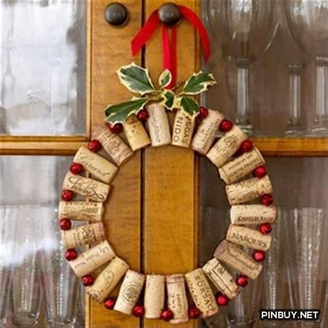 wine cork wreath christmas decorations christmas decor
