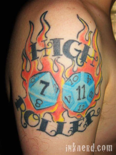 roll    dice tattoos  geeky tattoos