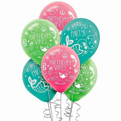 Balloons Birthday Celebration Selfie Party 6ct Pk