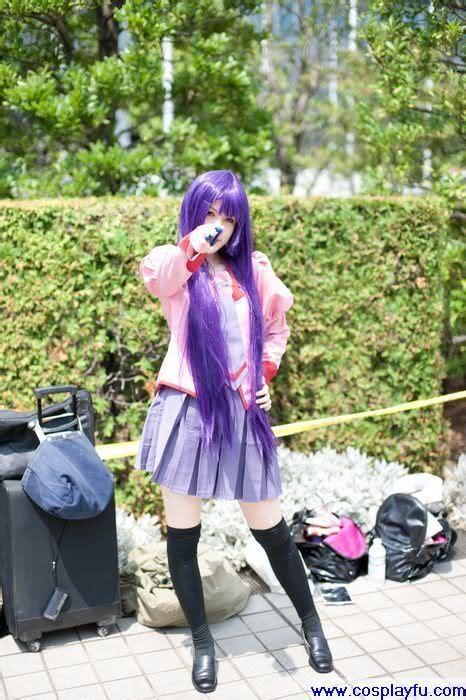 hitagi senjogahara cosplay  bakemonogatari  summer