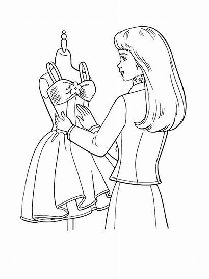 Coloring Pages Printable Barbie Colouring Designer Sheets