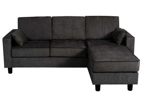 canapé 2 places cuir noir canapé d 39 angle réversible 3 places en tissu logan coloris