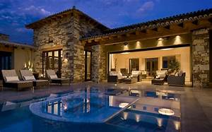 Mediterranean, Style, House, Plans, Traditional, Pool, Exterior