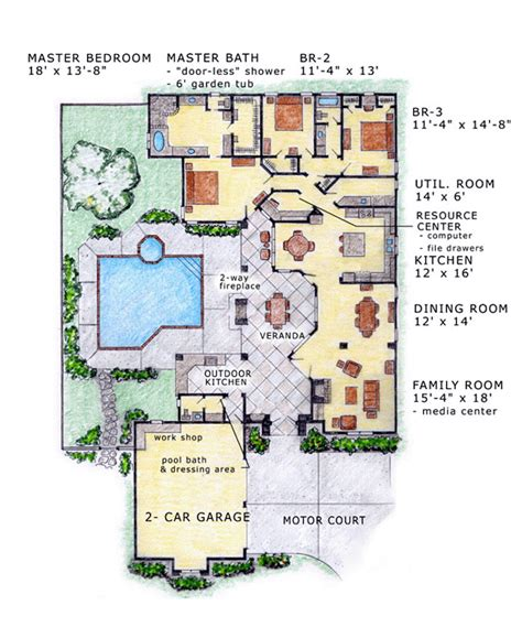 southwest home plans house plan 56530 at familyhomeplans com