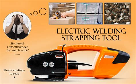 amazoncom baoshishan electric welding strapping tool  pppet battery powered charged