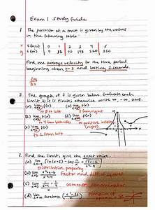 Utd - Math 2413 - Calculus Study Guide Exam 1