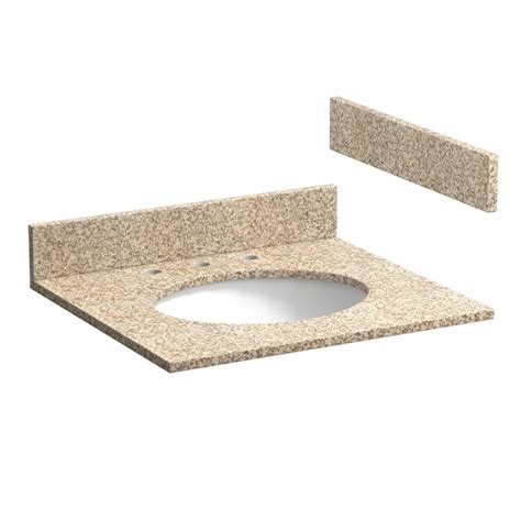 25 inch wheat beige granite vanity top with pre attached