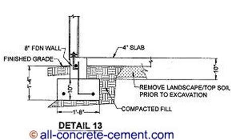 garage foundation foundation footing suspended concrete slab