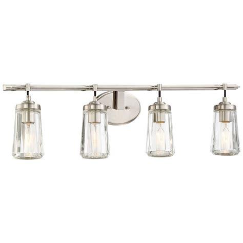 Bathroom Lights Brushed Nickel by Minka Poleis Brushed Nickel Bathroom Light 2304 84