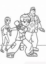 Ben Ten Coloring Pages Boys Print sketch template