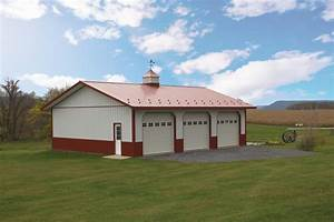 Residential pole buildings in hegins pa timberline for 3 bay pole barn