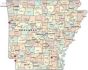 Arkansas Road Map