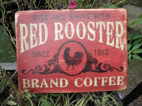 primitive rooster kitchen decor rooster brand coffee coffee sign primitive country