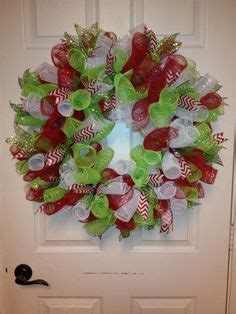 add ribbon  deco mesh wreaths  ribbon