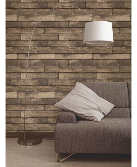 brown wooden plank effect wallpaper fine decor fd